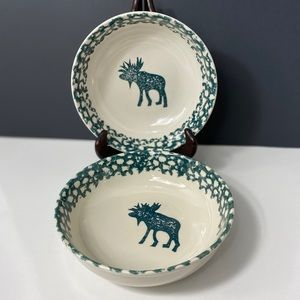Folk Craft Moose Country Bowls by Tienshan